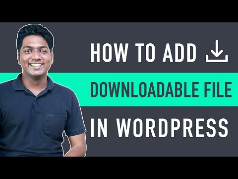 How to Add a Downloadable File in WordPress Quick & Easy! [Video]