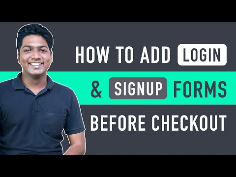 How To Add Login & Signup Page Before Checkout [Video]