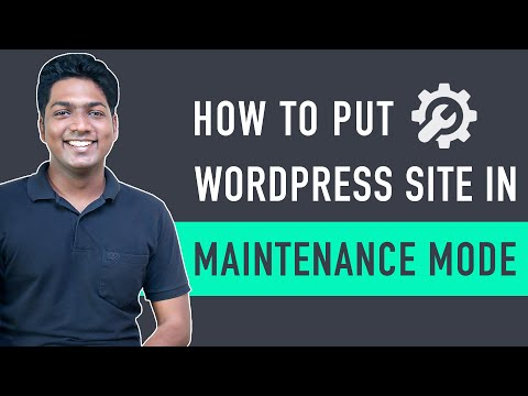 How To Put Your WordPress Site In Maintenance Mode [Video]
