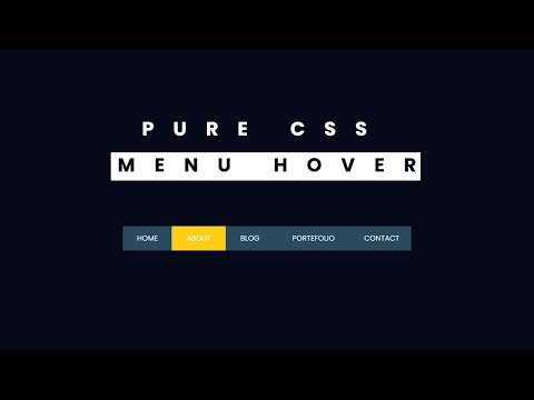 Pure CSS Menu Hover Effect – Very Easy Tutorial [Video]
