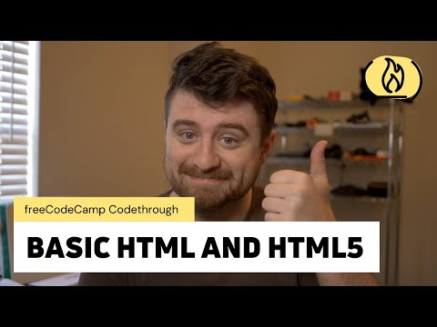 Basic HTML and HTML5: freeCodeCamp Responsive Web Design Certification (Complete Code Walkthrough) [Video]