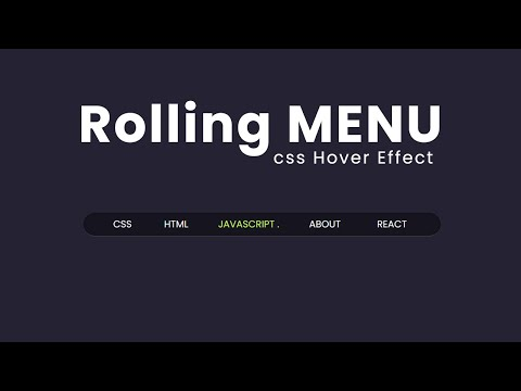 Pure CSS Rolling menu hover effect – CSS Hover Effects [Video]