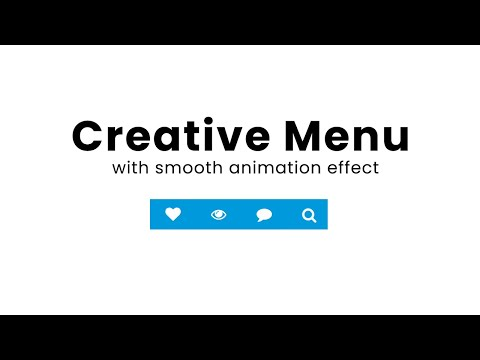 How to make Search menu expanding with smooth transitions using HTML CSS JS [Video]