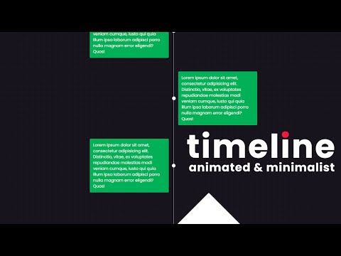 Minimalist and Animated Timeline Design for web design using HTML CSS [Video]