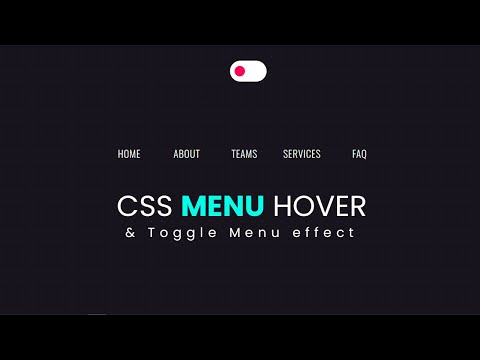 Pure CSS Menu Hover Effect with Background Toggle – Web Design [Video]