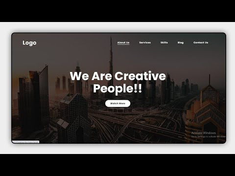 Create A Simple Website Using HTML And CSS | Homepage Design  For Beginners [Video]