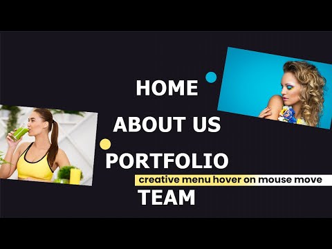 How to create Menu Hover with Mouse move using HTML CSS JS [Video]
