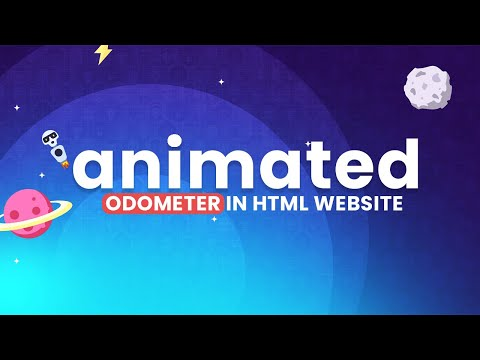 Creative Animated Odometer in HTML CSS Website Design [Video]
