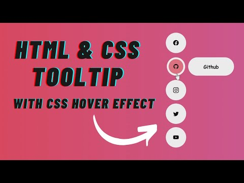 Create a Tooltip using html & css | web design | html & css website | website design idea [Video]