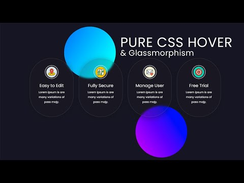 Pure CSS Hover and Glassmorphism animated Circle effect – CSS Hover Effects [Video]