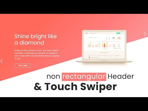 Non Rectangular Touch Image Swiper using HTML CSS –  Latest Non Rectangular Website Tutorial [Video]