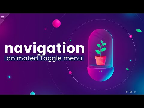 Responsive Navigation Toggle Menu animation Effect and Glassmorphism using HTML CSS JS [Video]