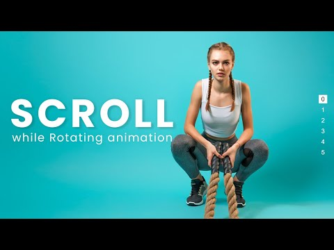 Rotating Page Scroll using HTML CSS JS For website design – Animated Page Scroll [Video]