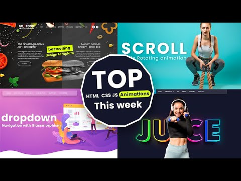 Top 8 Stunning HTML CSS JS Animation Effects for this week [Video]