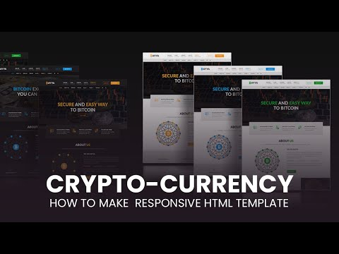 How to make Cryptocurrency Responsive HTML Website Template [Video]