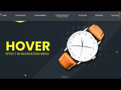 Mouse follow Hover effect in CSS Navigation Menu | Latest Hover Effect [Video]