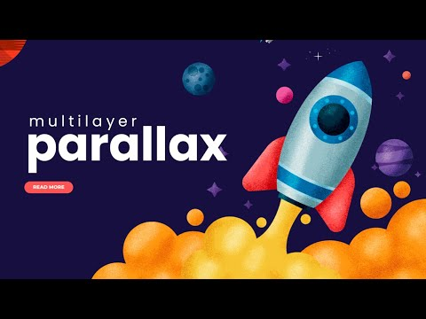 Multi Layer Parallax Effect on mousemove using HTML CSS JS [Video]
