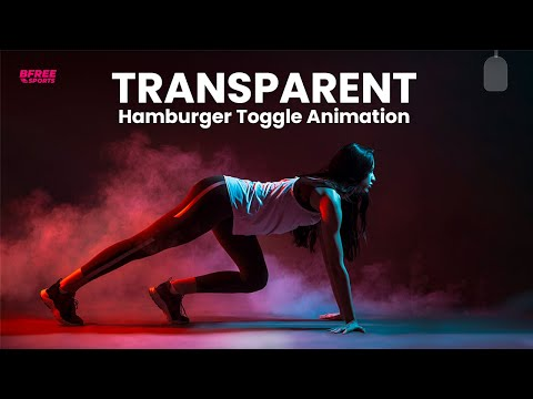 Transparent Hamburger Pull Out Toggle Menu Animation effect using HTML CSS JS [Video]