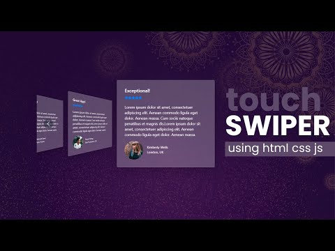 How to make Creative Flipster Touch Swiper using HTML CSS JS [Video]