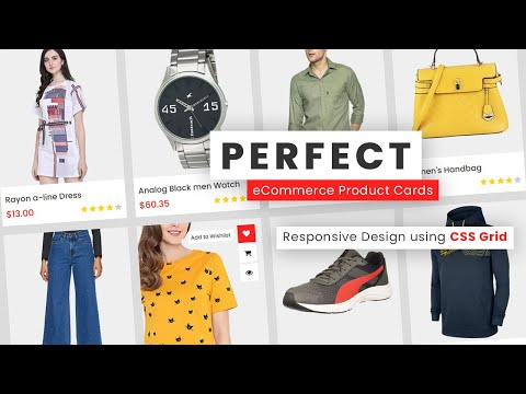 Responsive eCommerce Website Product Cards using Html & CSS | Responsive Web Design Tutorial [Video]
