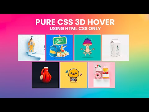 Latest Pure CSS 3D Perspective Hover Effect –  Pure CSS 3D Hover Effects [Video]