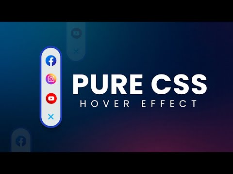 Pure CSS Social Media Hover Effect using HTML CSS –  Latest CSS Hover Effect [Video]