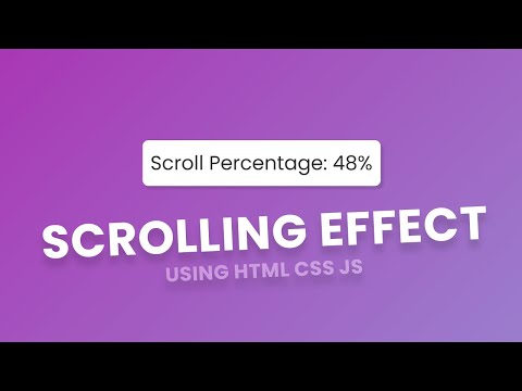 Scrolling Indicator while Website Page Scrolling using HTML CSS JS – Scroll Effect [Video]