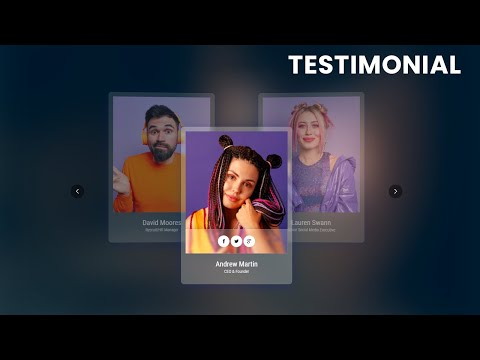 Our Creative Team Testimonial Swiper animation effect using HTML CSS JS [Video]