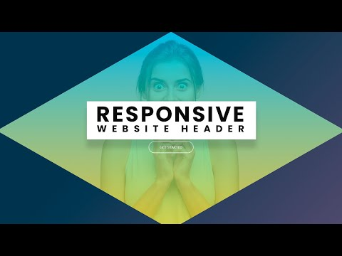 How to Create Website Header with Rhombus Shape using HTML CSS Only [Video]