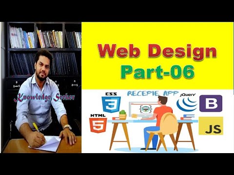 Learn Web Design Footer Basic  using HTML and CSS Part 6 [Video]