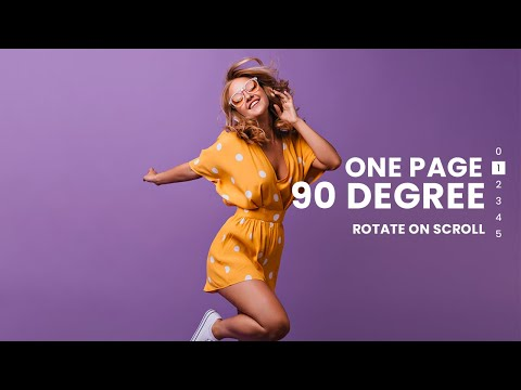 One Page Smooth  Scroll with 90 Degree Rotation on click using HTML CSS JS [Video]