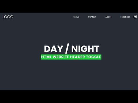 Day and night Toggle Animation in HTML Website Hero Header [Video]