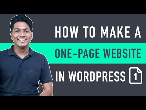 How To Create A One-Page Website In WordPress [Video]