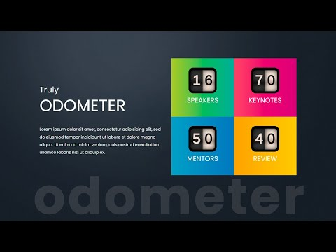 Next Level Odometer or Number Counting Up Animaton Effect using HTML CSS JavaScript [Video]