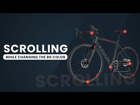 Scrolling animation with Background color changing While Scroll using HTML CSS JavaScript [Video]