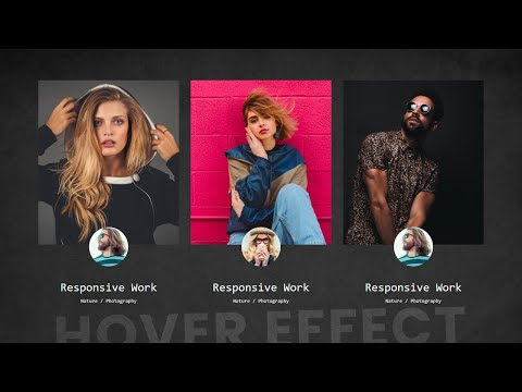 Pure CSS Profile Card Hover effect – Latest CSS Hover Effect [Video]
