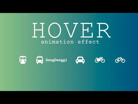 HTML CSS Icon Hover or Accordion Menu animation effect – CSS Hover Effects [Video]