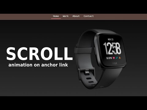 Scroll Animation Effect with Active Menu using HTML CSS JS [Video]