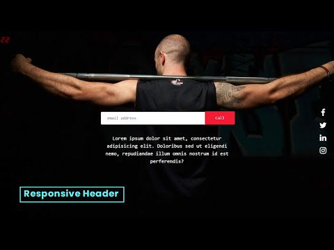 Responsive HTML Website Header with Mouse Trails using HTML CSS JS |  HTML Website [Video]