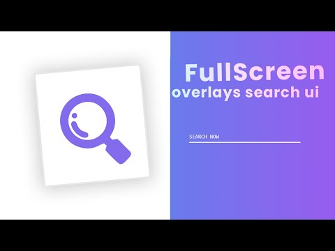 FullScreen Search Overlay with Beautiful Transition Animation Effect | Latest Animation in CSS [Video]