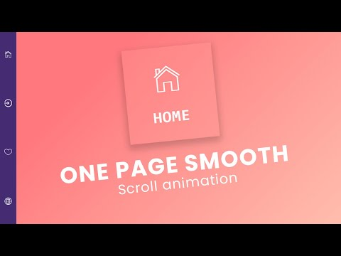 One Page HTML and CSS | Smooth Scroll Website [Video]