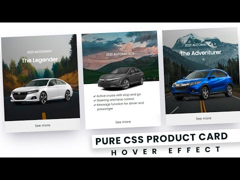 Pure CSS Product Card Hover Effect – Latest CSS Hover and css effects [Video]