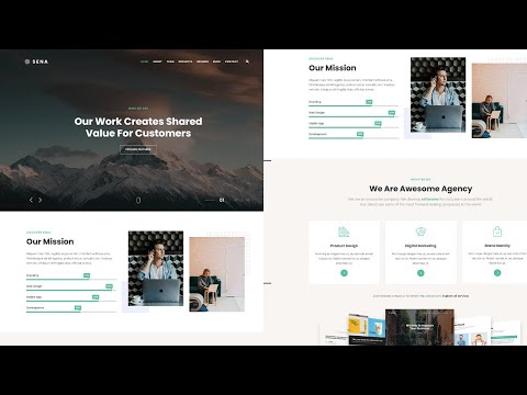 How to make creative HTML Website Design using Modern Technologies using HTML 5 and ALL [Video]