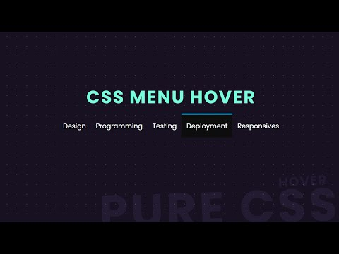 Pure CSS Responsive Nav menu Hover Effect | Latest CSS Hover effect [Video]