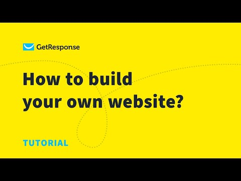 How to build a website in 30 minutes/ GetResponse Website Builder tutorial [Video]