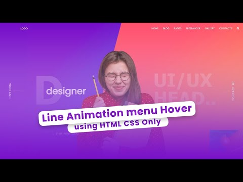 Line Menu Hover Effect in Responsive HTML Website Design – HTML CSS Hover Effect [Video]