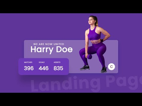 Beautiful Landing Page with Counter up animation effect using HTML CSS JavaScript [Video]