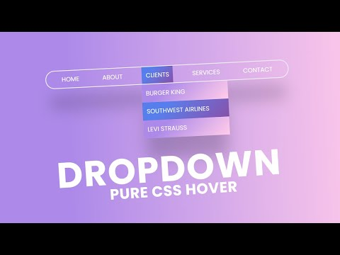 Pure CSS Dropdown Menu with Cool Hover Effect | Latest CSS Dropdown Menu [Video]