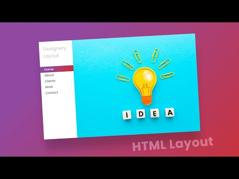 Pure CSS HTML Responsive simplest website design layout – HTML Website [Video]