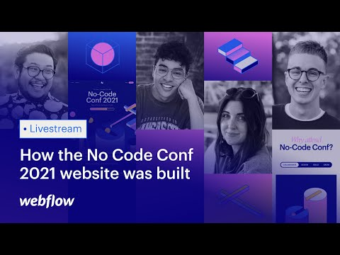 Learn how the new No Code Conference 2021 website was built [Video]